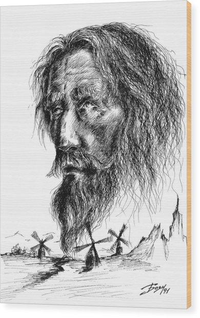 Don Quixote Wood Print by Boyan Donev
