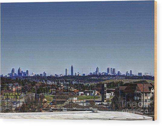 Downtown Atlanta Wood Print by Jeffrey Ward