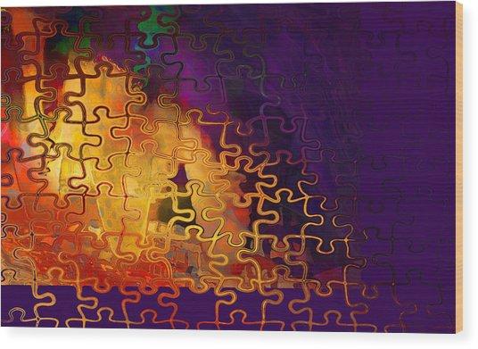 Dragon's Teeth Puzzle Wood Print