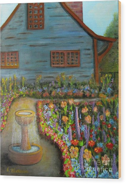 Dream Garden Wood Print