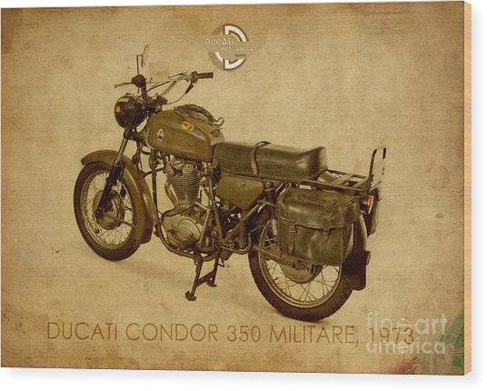 Ducati Condor 350 Militare 1973 Wood Print