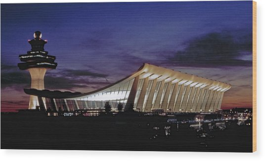 Dulles International Wood Print