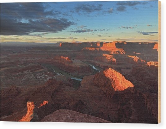 Early Morning At Dead Horse Point Wood Print