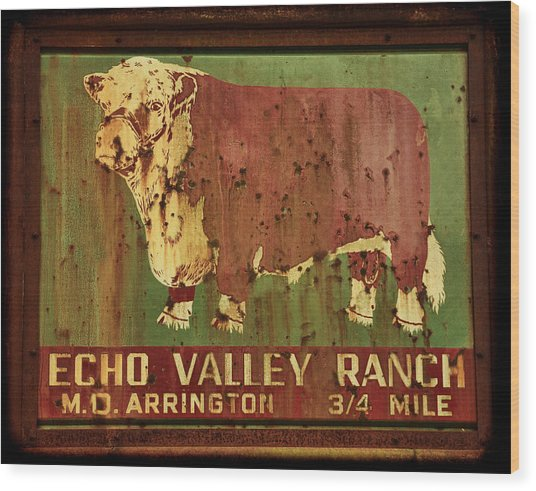 Echo Valley Ranch Wood Print