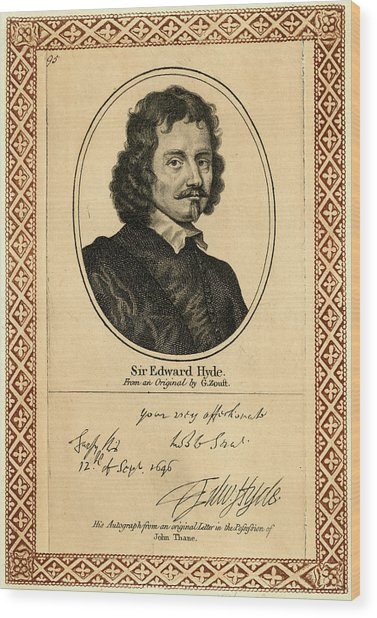 Edward Hyde, 1st Earl Of  Clarendon Wood Print by Mary Evans Picture Library