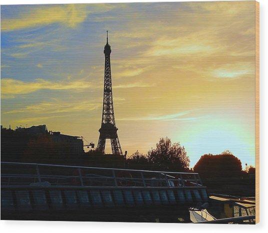 Eiffel02 Wood Print