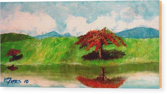 El Lago Wood Print