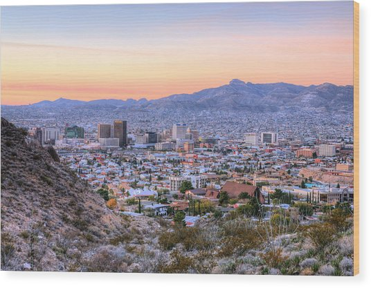 El Paso Wood Print by JC Findley