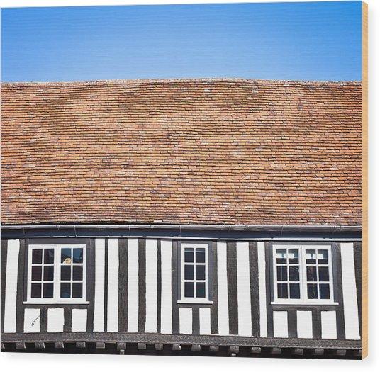 English House Wood Print