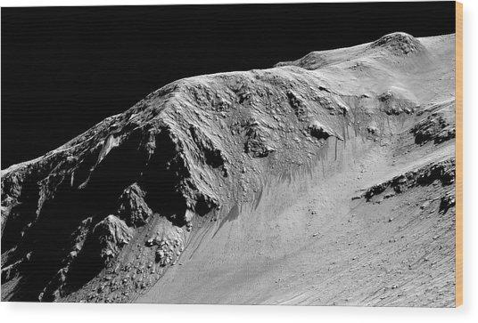Evidence Of Water On Mars Wood Print by Nasa/jpl-caltech/univ. Of Arizona