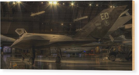 F-117 Stealth Fighter Wood Print