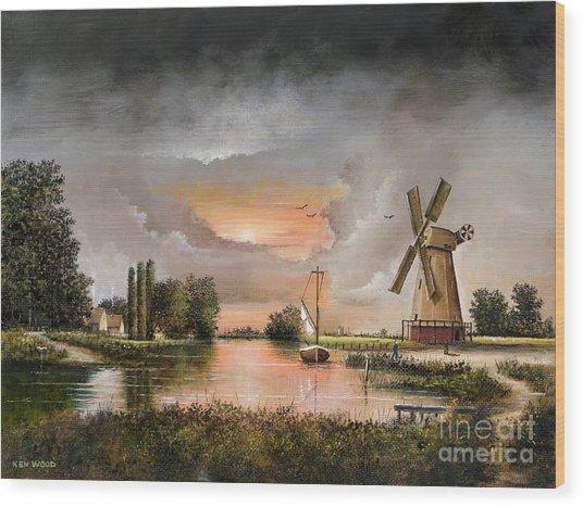 Fairhaven Mill Wood Print