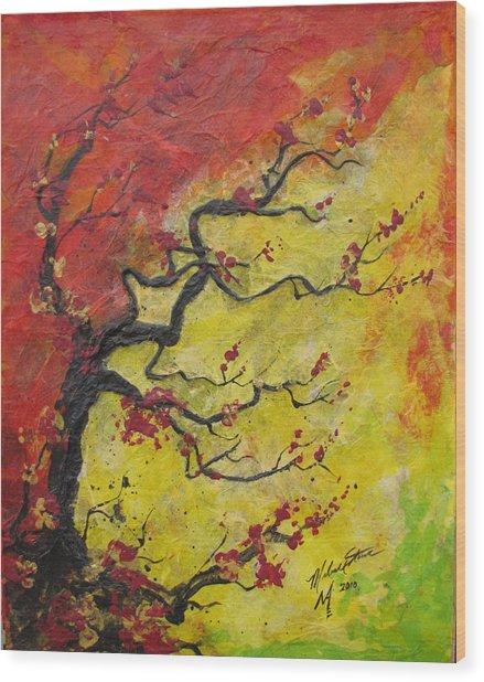 Fall Flame Wood Print