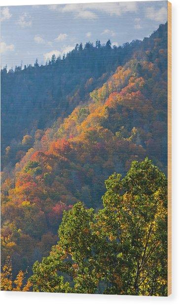 Fall Smoky Mountains Wood Print