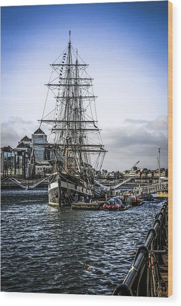 Famine Ship Wood Print