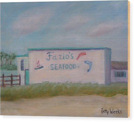 Fazios Seafood In St Augustine Florida Wood Print