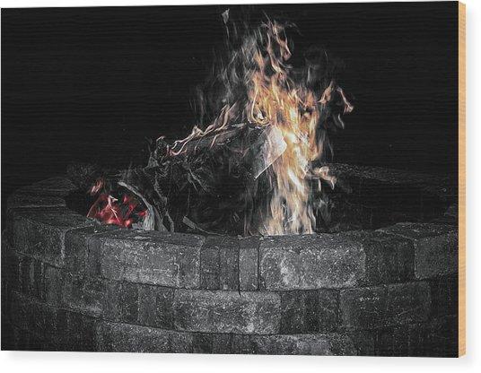 Fire Pit Wood Print