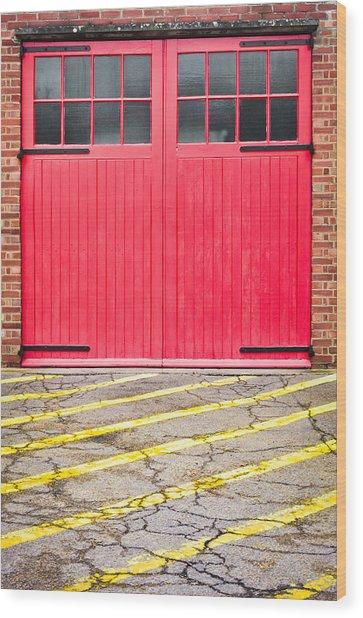 Fire Station Wood Print