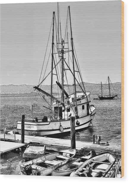 Fishing Boat Aquero Wood Print