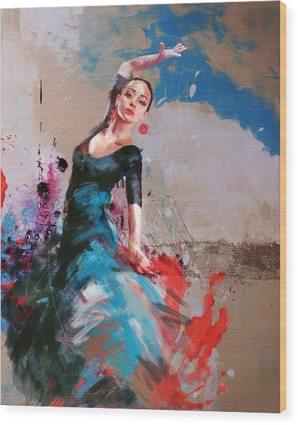 Flamenco 41 Wood Print