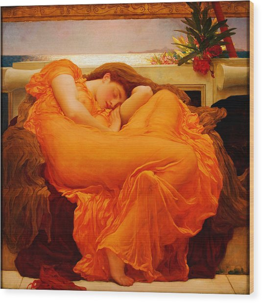Flaming June Wood Print