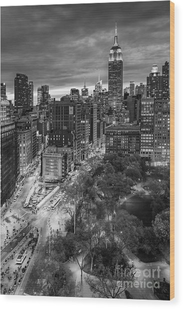 Flatiron District Birds Eye View Wood Print