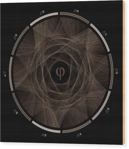 Flow Of Golden Ratio #2 Wood Print by Cristian Vasile