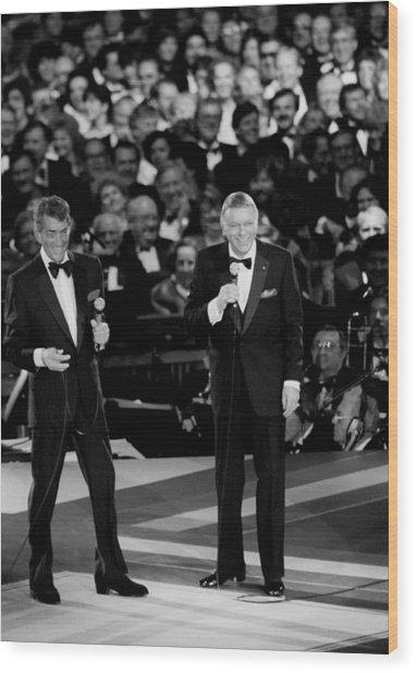 Frank Sinatra And Dean Martin Wood Print
