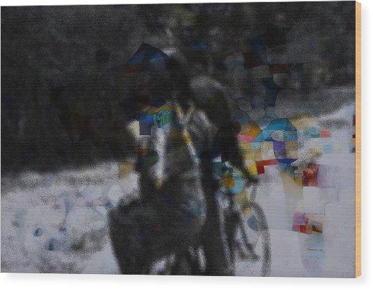 Free Ride Wood Print