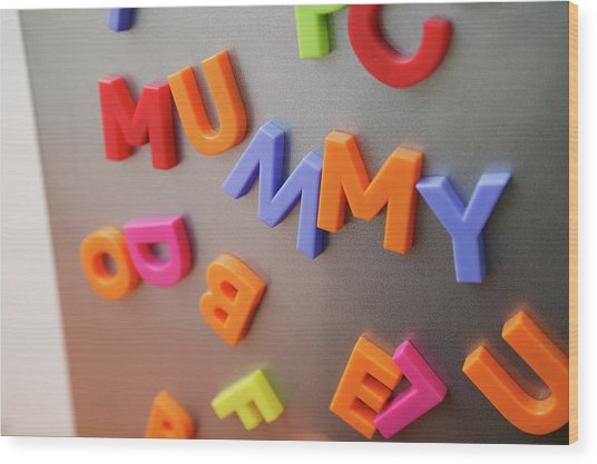 Fridge Magnets Wood Print by Michael Donne/science Photo Library