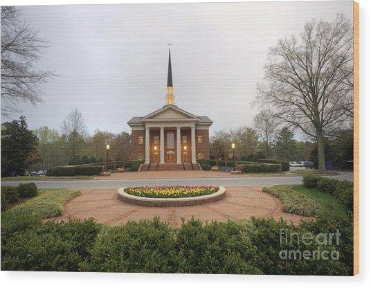 Furman University Charles Daniel Chapel   Greenville Sc Wood Print
