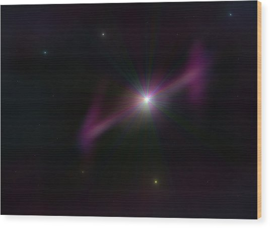 Gamma Ray Burst Wood Print by Ricky Haug