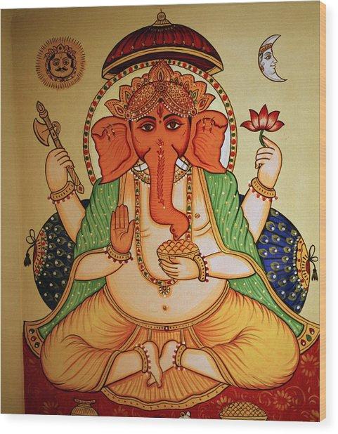 Spiritual India Wood Print