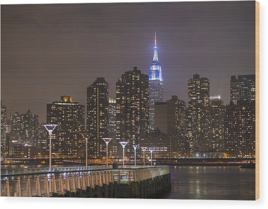 Gantry Nights Wood Print