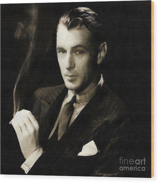 Gary Cooper Wood Print