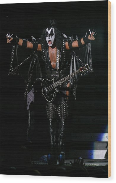 Gene Simmons - Kiss Wood Print by Don Olea
