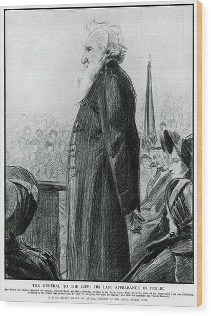 General William Booth  Founder Wood Print by Mary Evans Picture Library