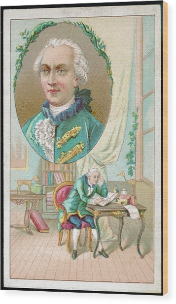 Georges-louis Leclerc Alias Buffon Wood Print by Mary Evans Picture Library