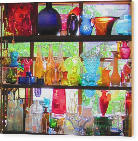Gifts Of Glass Wood Print by Jeanne Porter