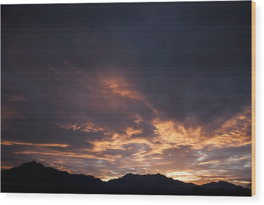 Gila River Indian Sunset Wood Print by Anthony Citro