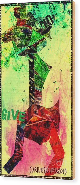 Give Wood Print by Currie Silver
