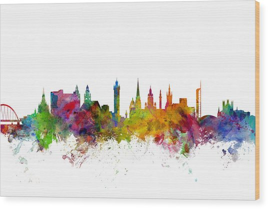 Glasgow Scotland Skyline Wood Print