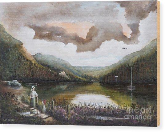 Glendalough Wood Print