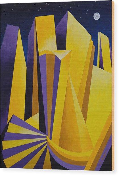 Golden City 2 Wood Print