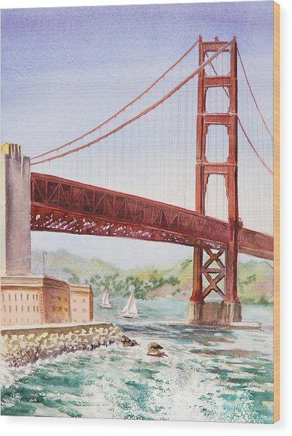 Golden Gate Bridge San Francisco Wood Print