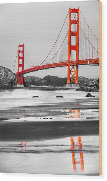 Golden Gate - San Francisco - California - Usa Wood Print