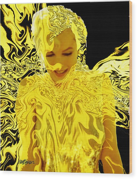 Golden Goddess Wood Print