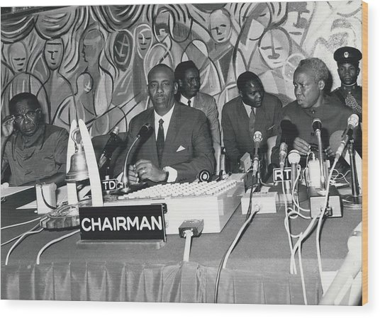 �good Neighbors� Conference, Dares Salaam, Tanzania Wood Print by Retro Images Archive