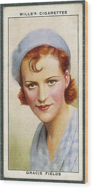 Gracie Fields  English Singer Wood Print by Mary Evans Picture Library