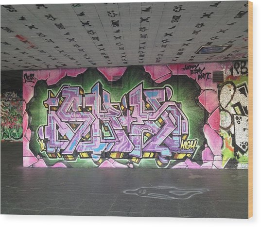 Graffiti Southbank Wood Print by Maeve O Connell
